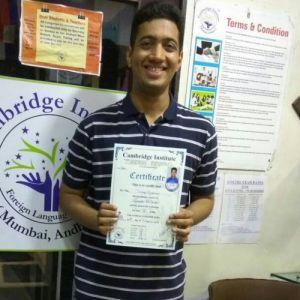 Deep Kishore , Spanish Student